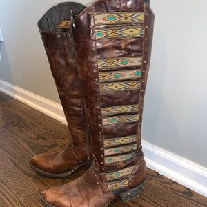 Tall Cowboy Boots with design